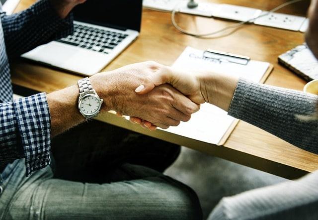 Clients handshake