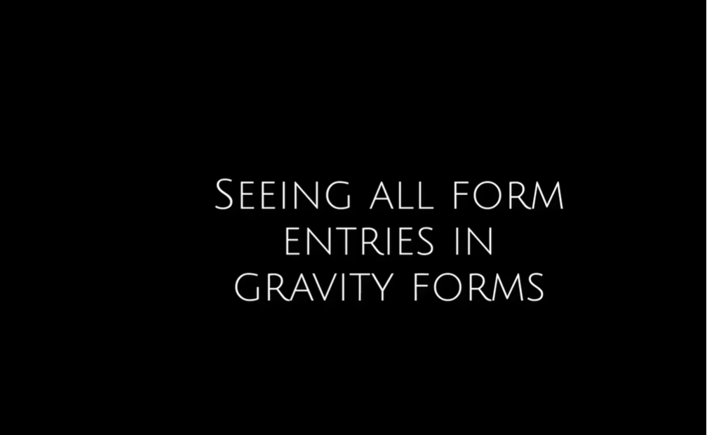 How to See Form Entries in Gravity Forms