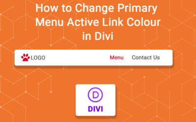 How to Change Primary Menu Active Link Colour in Divi